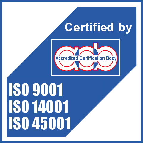Certified by ISO 9001, ISO 14001, 45001